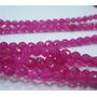 Hilo De Rubi Rosa Facetado 4mm 38 Cm Para Collar O Pulsera