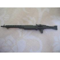 Gijoe 1987 Battle Gear Machine Gun Gray Rifle