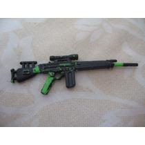 Gijoe 1992 Firefly Green Black Painted Rifle