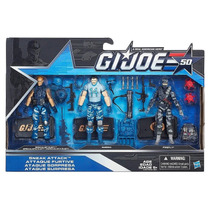 Gijoe 50 Anniversary - Sneak Attack: Dusty, Bazooka, Firefly