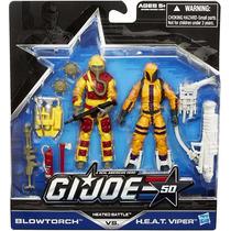 Gi Joe Heated Battle Blowtorch & H.e.a.t. Viper