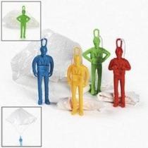 12 Plástico Jumbo Paracaidistas Paracaidistas Hombres