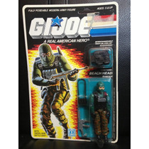 Gi Joe Cobra 1986 Beach Head 34 Back Moc Carded Gray Rm4