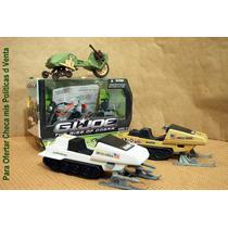 Lee Anunc X Gi Joe Lote 2 Motocicleta & 2 Motonieve S/figura