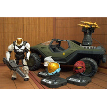 Halo Reach Lote Wartog , Figura Spartan & 3 Helmets Ve Anunc