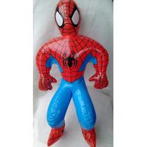 Super Figura Inflable Jumbo Hombre Araña Spiderman 90cm Alto