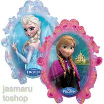 3 Grandes Globo Metalico 28 Pulg. Espejo Frozen Elsa Y Anna