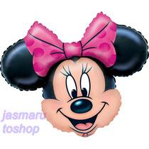6 Globos Metalico 14 Pulg Minnie Mouse Para Arreglo De Mesa