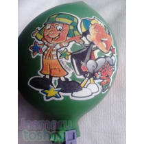 30 Globos Latex Jumbo Estampado #17 Chavo Animado