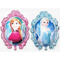 2 Piezas De Globo Metalico Pelicula Frozen Princesa Jumbo