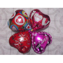 Paquete De 50 Globos Metalicos 14 De Febrero