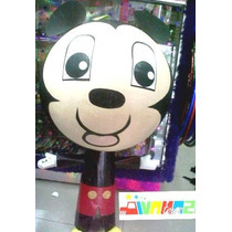 Piñata Mickey Mouse Minnie Mimi Donald Santa Muñeco De Nieve