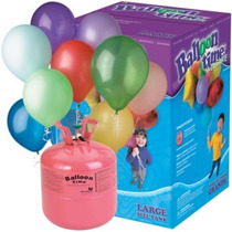 Tanque De Helio Desechable Y 50 Globos¡¡ Balloon Time, Mn4