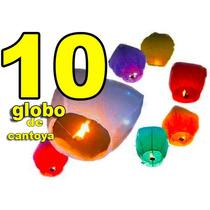 10 Globos De Cantoya Lampara China Fiestas Bodas Xv Años
