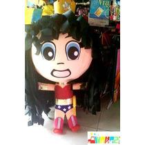 Piñata Mujer Maravilla Mafalda Mario Bros Max Steel Angelito