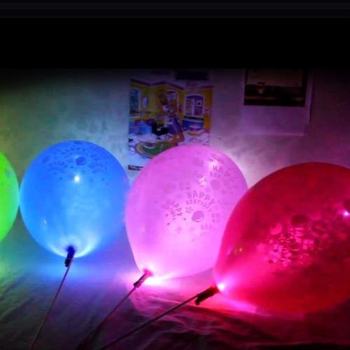 Globos Con Luz Led Para Fiestas !! Unicos !! (10 Piezas)