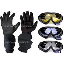 Combo Para Moto , Googles ,guantes De Neopreno, Pasamontañas
