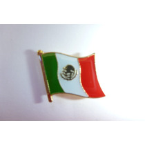 Pin Metalico Bandera De Mexico Broche Recuerdo Accesorio