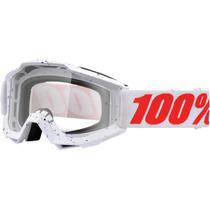 100% Accuri Mx / Offroad Gafas Skylar Blanco / Lente Clara