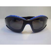 Goggle Lentes Tipo Motociclista Lente Azul Con Ventilacion