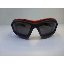 Goggle Lentes Tipo Motociclista Lente Rojo Con Ventilacion