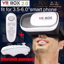 Lentes Realidad Virtual Vr Box Cardboard 3d + Control Bt
