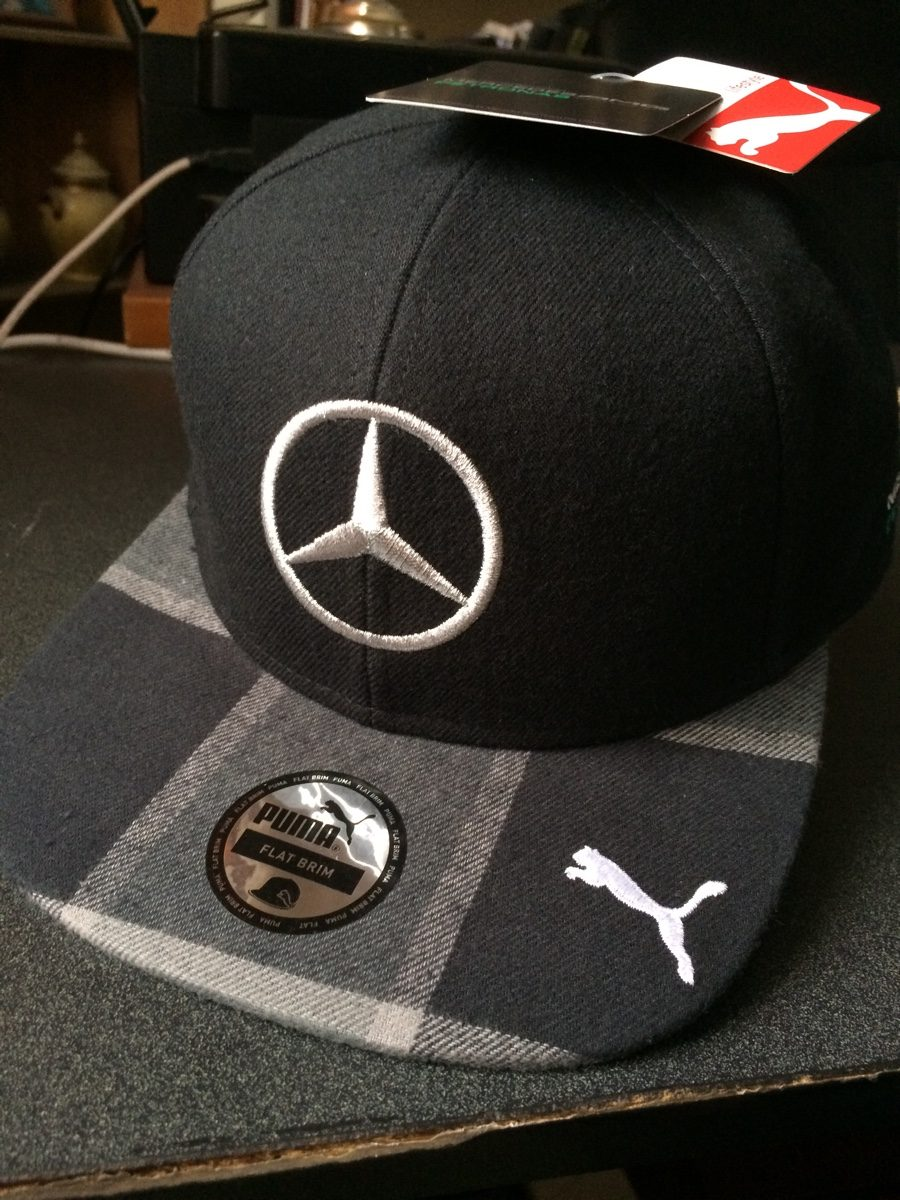 gorra negra lewis hamilton puma plana f1 mercedes gp. Black Bedroom Furniture Sets. Home Design Ideas