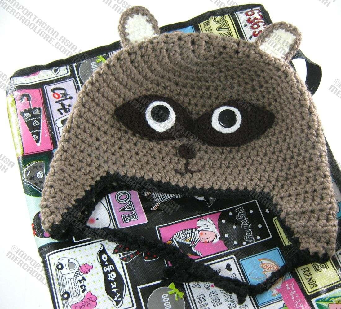 Gorros De Animales Tejidos A Crochet Y Guantes A Crochet en ...
