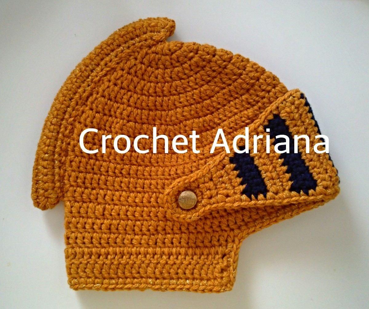 pin gorro tejido casco medieval crochet fn4 tejidos