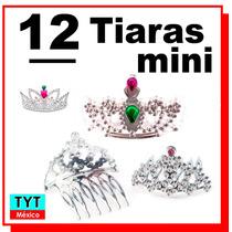 12 Tiara Princesas Mini Peineta Fiesta Boda Eventos Party