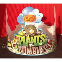 Plantas Vs Zombies Coronas Gorritos Articulos De Fiesta