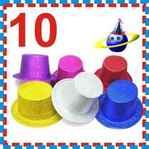 10 Sombreros Fiesta Boda Xv Diamantado Copa Dj Peluca Gorro