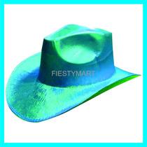 Sombrero Tipo Vaquero Brilloso Dj Fiesta Baile Animación Xv