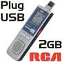 Grabadora Digital 2 Gb Rca Usb Incluido Rvst2005