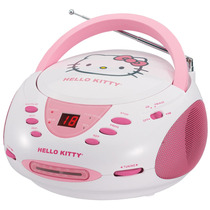 Radiograbadora Hello Kitty Stereo Cd Boombox Am/fm Kt2024a