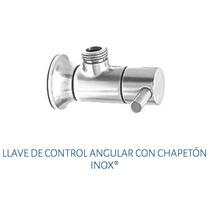 Llave De Control Angular Con Chapetón Urrea 401 Inox