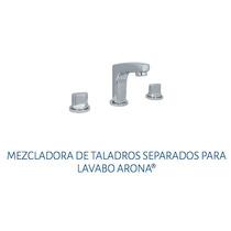 Mezcladora Taladros Separado Lavabo Urrea 9283ar Arona Cromo