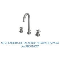 Mezcladora De Taladros Separados Para Lavabo Urrea 9290 Inox