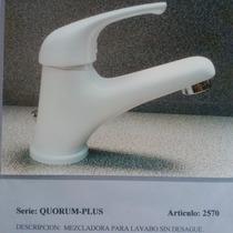 Llave Mezcladora Italiana Mod. Quorum 2570 Sin Desague