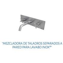 Mezcladora Taladros Separados A Pared Lavabo Urrea 9719 Inox
