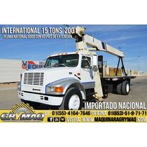 Grua Titan 15 Tons Camion International 2001 Gruas Titan