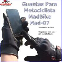 Guantes Motocilsmo Para Pantalla Tactil Mad Bike Mad07