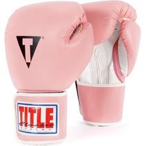 Guantes De Box Para Mujer Color Rosa Marca Title Boxing Rm4