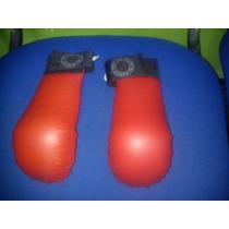 Guantilla Karate Rellena De Latex Roja Y Azul