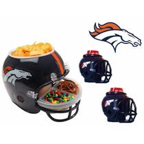 Casco Nfl Broncos Denver Combo Botanero Y 2cerveceros