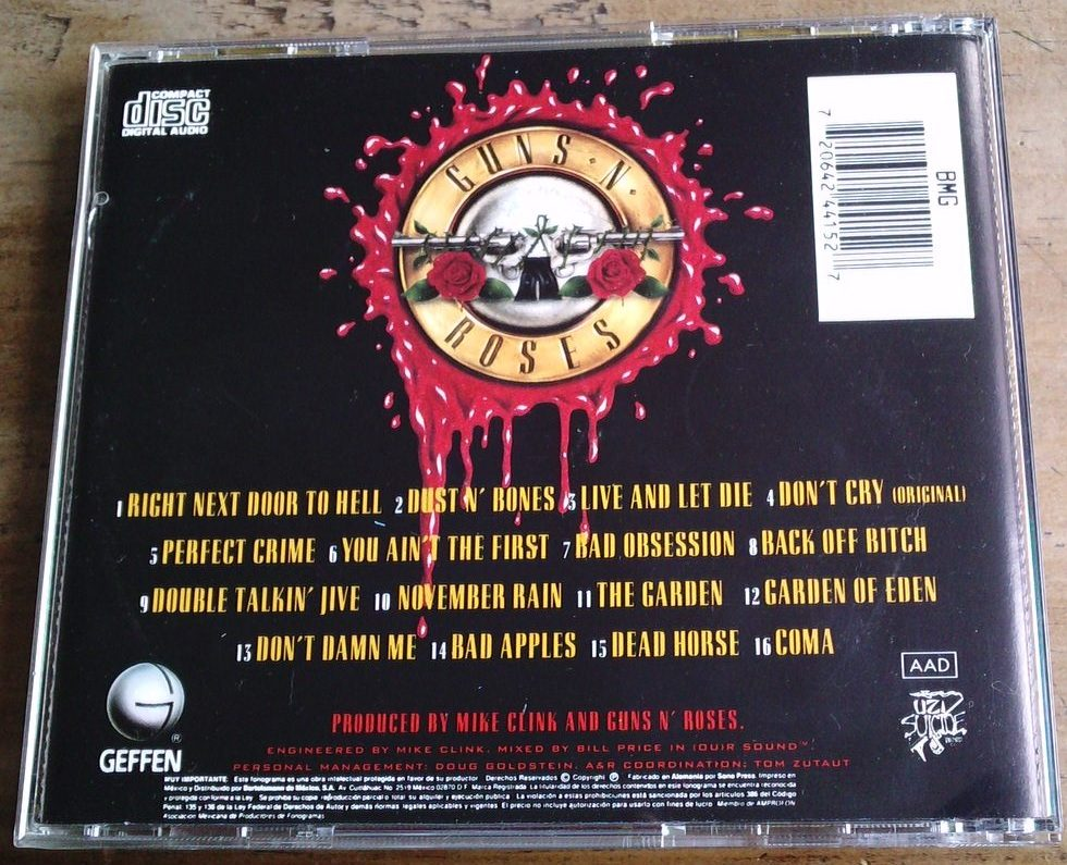 Guns N Roses Use Your Illusion 1 Cd 1a Ed 1991 C/booklet Maa ...