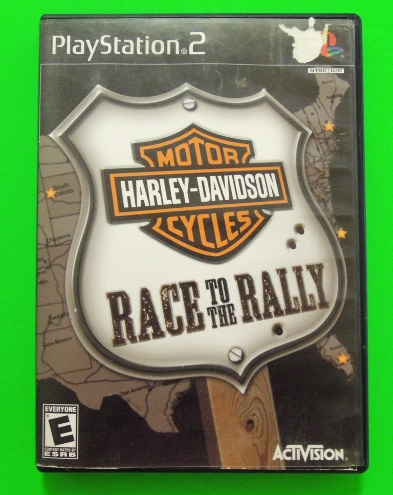 harley-davidson motor cycles race to the rally playstation 2