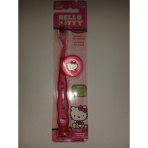 Set De Cepillo De Dientes Con Tapa Hello Kitty, Set De Viaje
