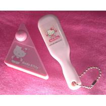 Hello Kitty Cepillo Rosa, Clips Con Estuche 100% Original