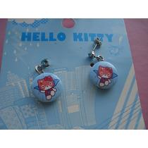 Aretes De Coleccion Hello Kitty Super Heroe 100% Original